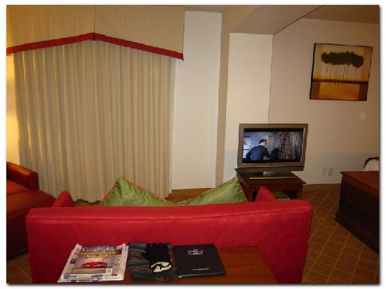 Hawthorn Suites by Wyndham St. Louis Westport Plaza: Flat screen TV
