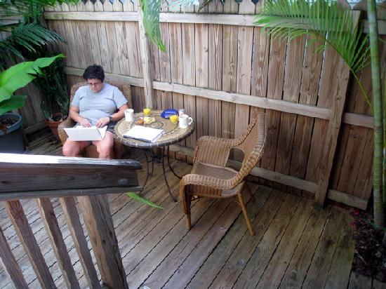 The Grand Guesthouse: Private Patio Outside Room 2.