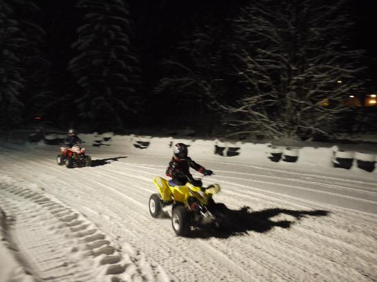 Chilly Powder: Quad Biking at night - what a laugh