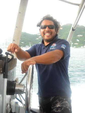 BVI Scuba Co: Oswaldo our Dive Master and Captin