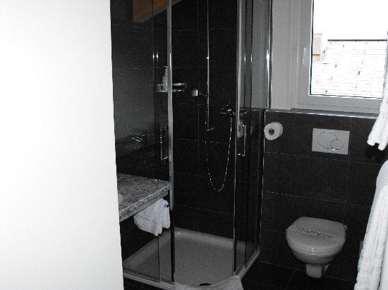 Hotel Schweizerhof Gourmet & Spa: Upstairs shower