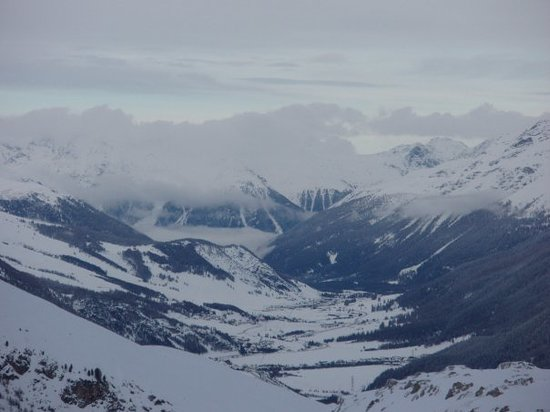 St. Moritz, Switzerland: The vast valleys and icy mountain peaks.
