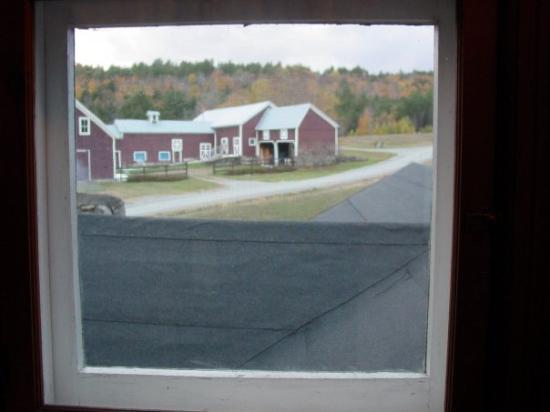 Chestertown, NY: Picture taken from Victorian window looking over farmhouse roof (before green metal roof added)