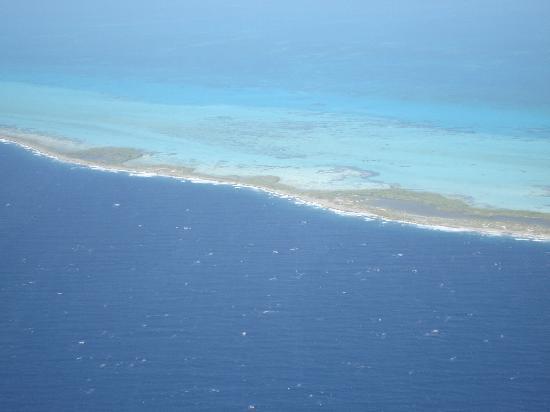 Posada La Langosta: vista aerea Los Roques