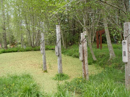 Monarch Sculpture Park: beware the pond