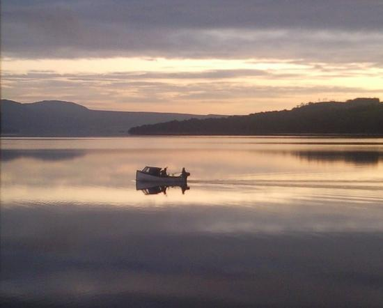 Loch Lomond and The Trossachs National Park, UK: sunrise view from the Heron