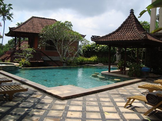 Ubud Bungalow: The pool area