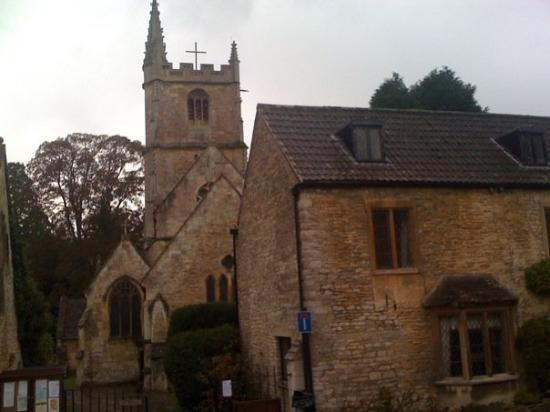 Castle Combe, UK: Local church and cemetery.