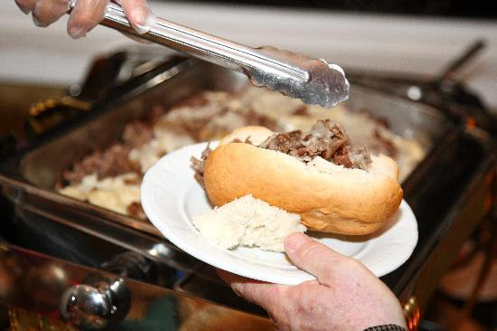 The Grand Hotel: Cheesesteak Station was a huge hit!