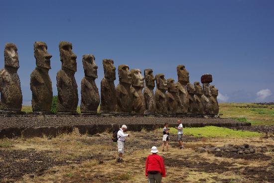 Pension Chez Tita et Lionel: un site de moai