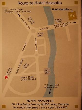 Hotel Havanita : map of how to get to the hotel