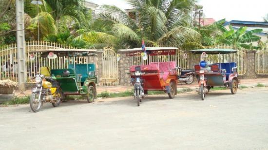 tuk-tuk a Kampot