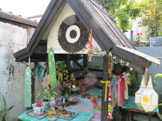 Anong House: Spirit House at back of property
