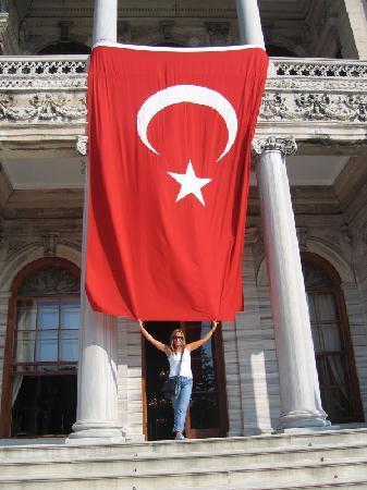 Turkey: Bandera radiante de Turquía