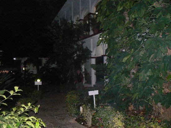Chiapa de Corzo, المكسيك: Jardin le soir