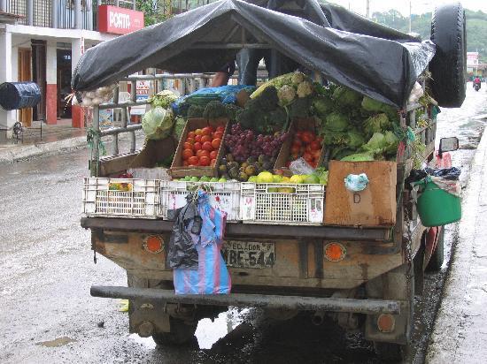 Ecuador: Fresh Produce Truck, Canoa