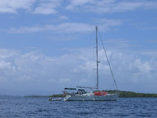 Panama: Our chartered yacht for 2 days, Bocas del Torro
