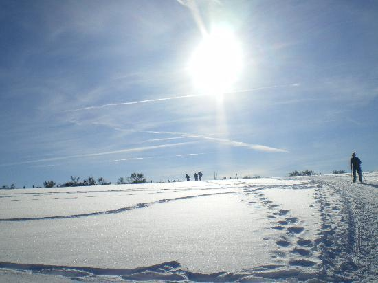 Pailherols, Francja: ski de fond sous le soleil