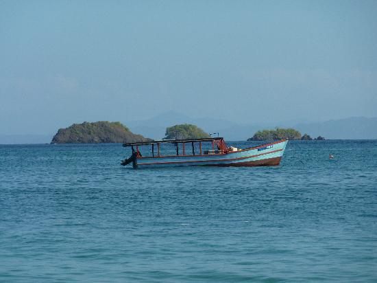 Hotel Hibiscus Garden: Blick von Insel Coiba