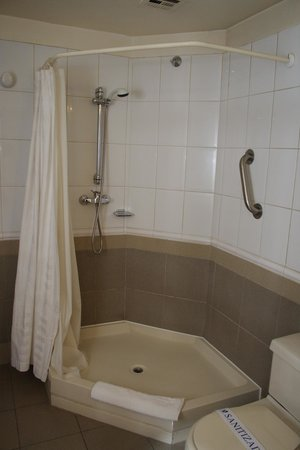 Alborada Hotel : Vista de la ducha