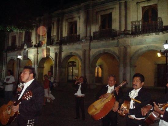 Mariachi in the city centre Oaxaca