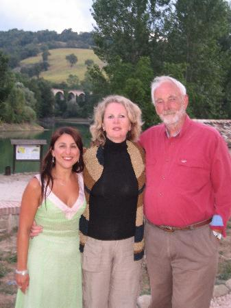 Amandola, Italia: Dinner with Pauline and Rob