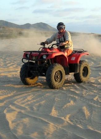 Todos Santos, Mexico: Terry on Desert Dune Buggy