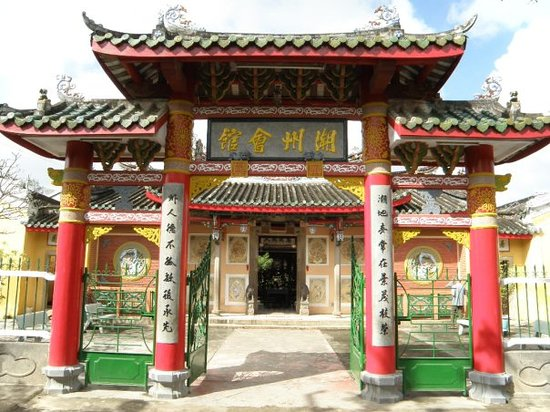 Hoi An, Vietnam: Entrance of the Assembly Hall of the Teochew Chinese Congregation