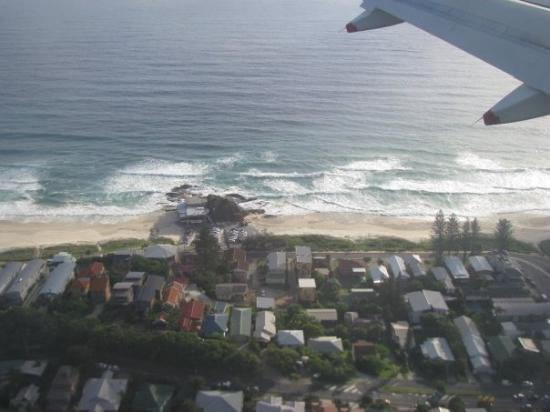 coming in to land at Coolangatta, Australia