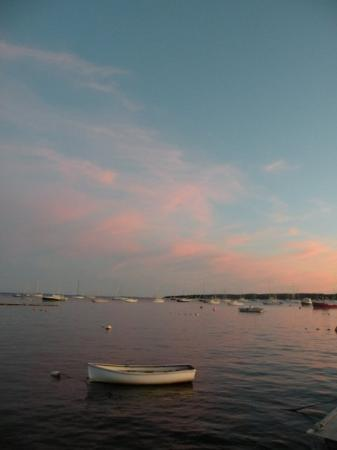 Mattapoisett, MA: Pink and Blue, Row Boat at Sunset
