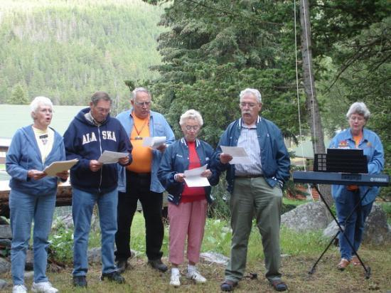 McLeod, MT: the NOMADS aka our adopted grandparents. These guys worked on various camp projects for 1 1/2 m