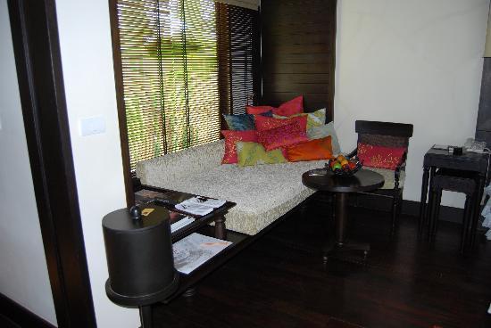 Anantara Mai Khao Phuket Villas: Seating  area in Villa