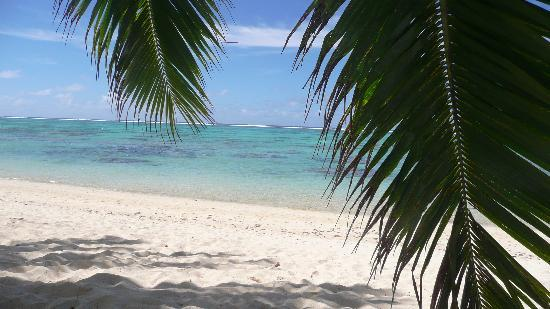 Titikaveka, Cook Islands: napping on the beach