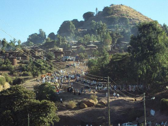 Lal Hotel Lalibela: The view from our room
