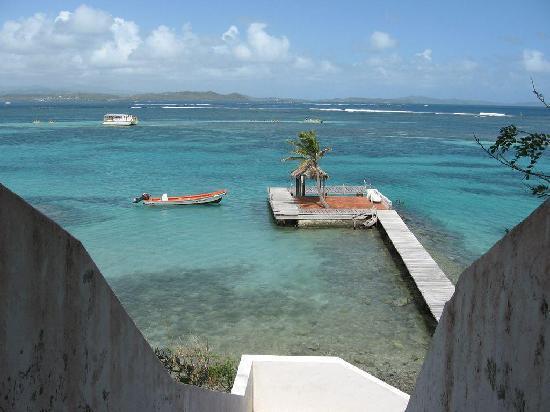 L'habitation de l'Ilet Thierry: le ponton de l'îlet thierry