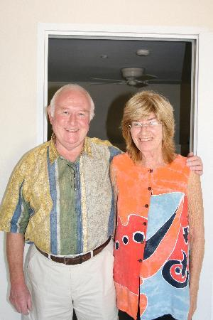 Bayfield House: Hosts, Trevor and Pam
