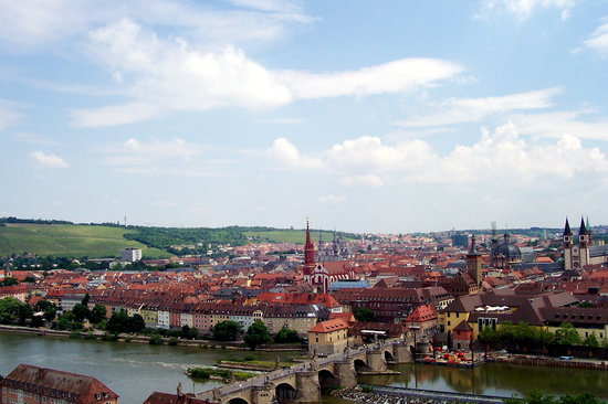 Würzburg, Nemecko: view from castle