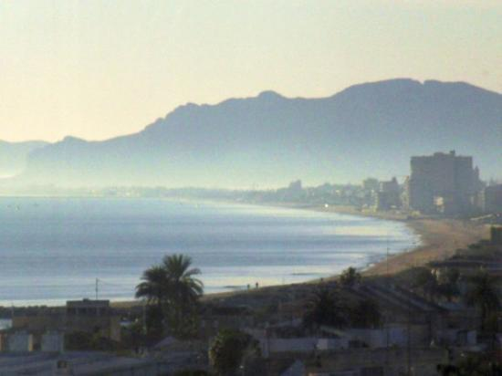 Playa de Gandia, Espagne : My breakfast view.