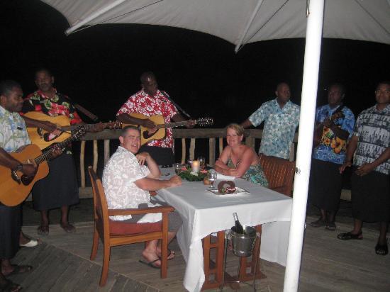 Castaway Island Fiji: Anniversary dinner