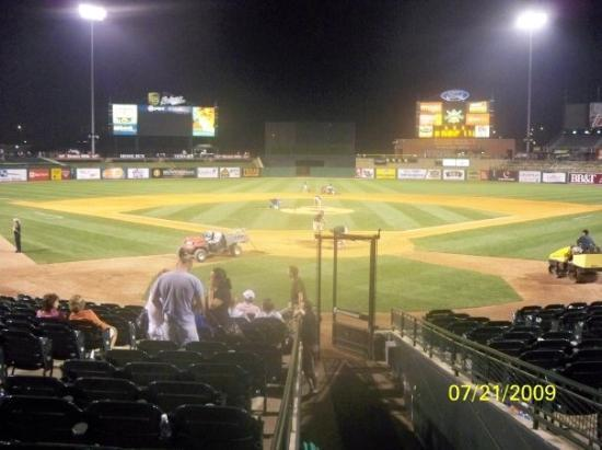 Louisville Slugger Field from Home Plate
