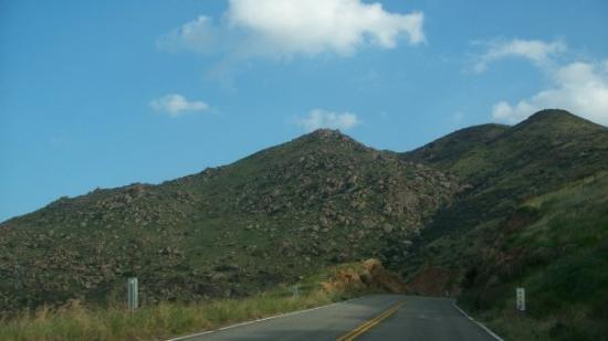 The road up the mountain to Idyllwild. It was so beautiful