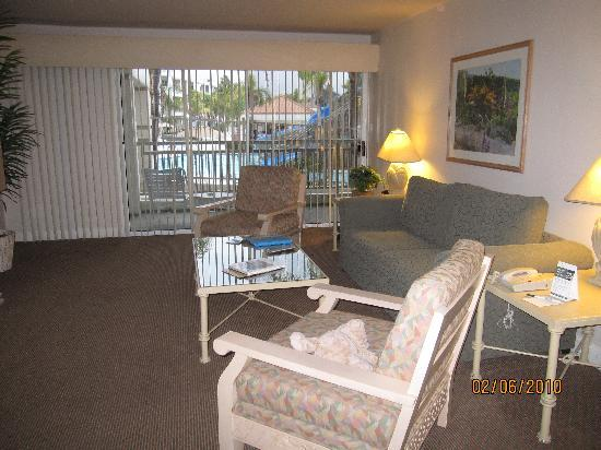 Palm Canyon Resort & Spa: Living room/1 bedroom