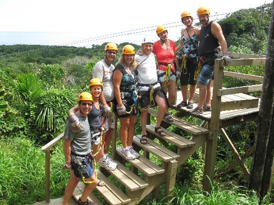 Bananarama Dive & Beach Resort: The South Shore Zipline crew