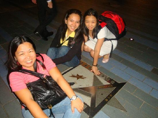Avenue of the Stars: enjoying the place...