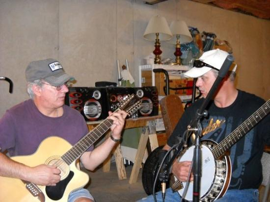 Weatherly, PA: Mark & his brother John playing some tunes