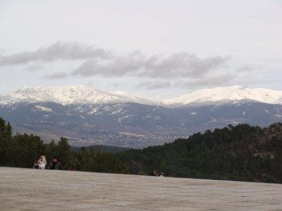 Valle de los Caidos: view from the valley of the fallen.