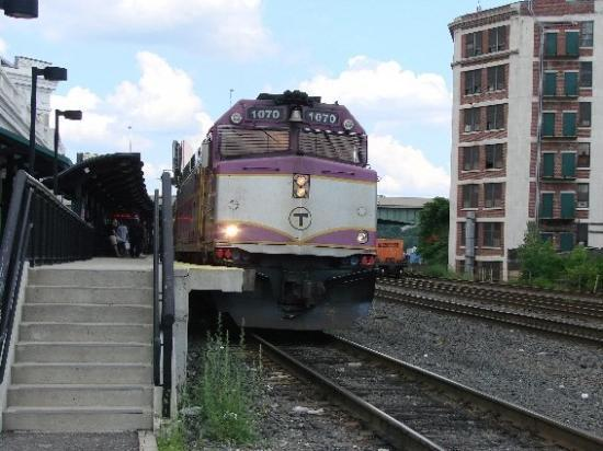 Mbta Commuter Train Headed To Haverhill Mass In Andover  Western Division Main Line