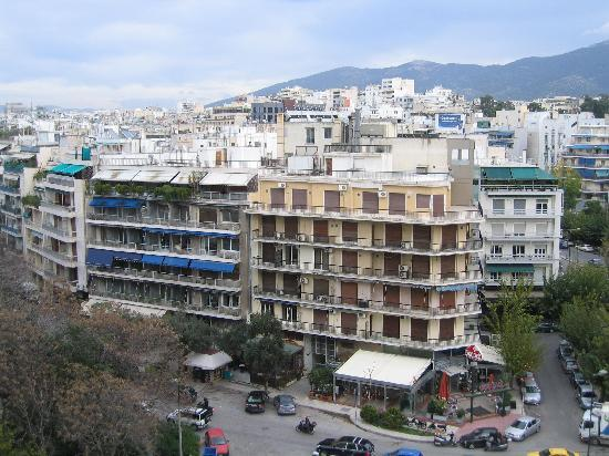 Hilton Athens: View from my room's balcony