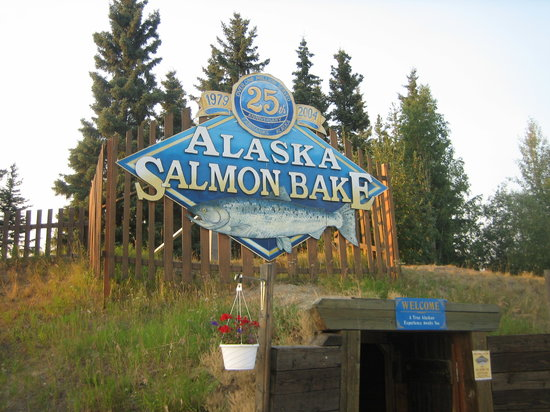 Entrance To The Salmon Bake Picture Of The Alaska Salmon