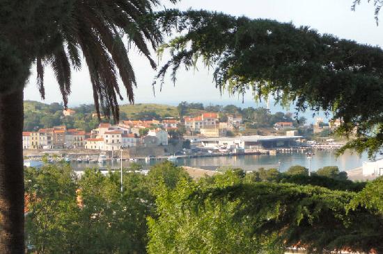 Hotel Les Jardins du Cedre : Port-Vendres depuis une chambre